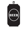 beer can icon beer can icon on white background vector image vector image