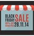 Black friday sale background Store concept vector image vector image