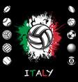 black sport balls grunge set vector image
