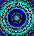 blue color image of circles consisting of lines vector image