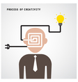 Brain opening concept vector image vector image