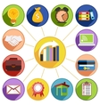 Business management and data analytics icon set vector image