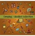 Camping - doodles collection vector image