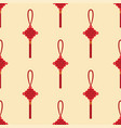 chinese lantern seamless pattern paper vector image