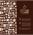 coffee menu or package concept infographics banner vector image vector image