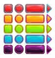 Colorful bright buttons set vector image vector image