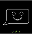 comment smile message it is white icon vector image vector image