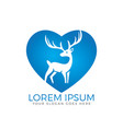 deer heart shape logo design vector image