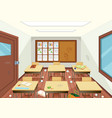 dirty wooden classroom interior vector image vector image