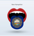 electoral vote of new hampshire abstract mouth vector image