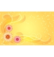 Floral ornament on yellow background vector image vector image