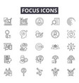 focus line icons for web and mobile design vector image vector image