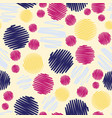 fun colorful scribble dots seamless pattern vector image vector image