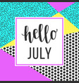 hello july sale banner vector image vector image