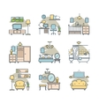 Home room icons set vector image vector image