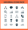 hr icons set with woman resume money deal and vector image vector image