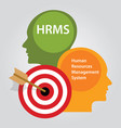 hrms human resources management system vector image vector image