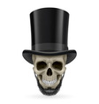 Human skull with beard and hat on vector image vector image