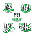icons for soccer or football sports bar vector image vector image