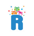 initial gift r vector image vector image