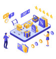 isometric online internet shopping vector image vector image
