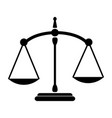 justice scale balance old and ancient black and vector image