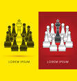 king and pawn chess vector image vector image