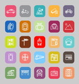 Land transport related line flat icons vector image