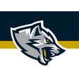 logo mascot aggressive wolf ready to attack vector image vector image