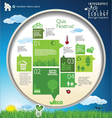 Modern ecology blue and green infographic design vector image vector image