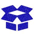 open box icon grunge watermark vector image