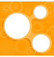 Orange background with elements for information vector image vector image