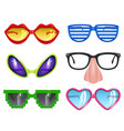party glasses masquerade realistic funny mask vector image