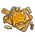peanut butter sandwiches vector image