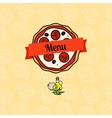 Pizza menu cover vector image
