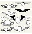 Retro Vintage Insignias or Logotypes vector image