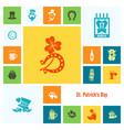 saint patricks day icon set vector image vector image