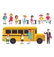 School flat set Isolated On White Background vector image vector image