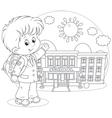 Schoolboy vector image vector image