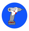 screw gun icon impact wrench or screwgun vector image vector image