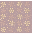 seamless beautiful flower pattern vector image