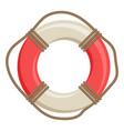 ship life buoy nautical symbol vector image