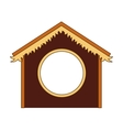 silhouette stable manger icon vector image