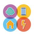 smart home design vector image vector image