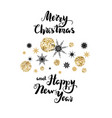 snowflakes holiday background vector image vector image