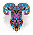 stylized goat zentangle vector image vector image