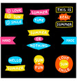 summer doodle phrase collection vector image