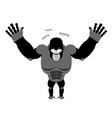 Surprised Gorilla says oops Perplexed monkey vector image vector image