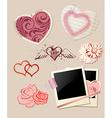 Valentines Day scrapbook vector image