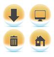 web orange icons vector image vector image